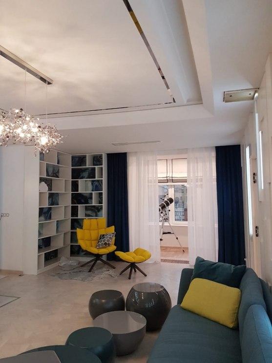 Текстильный дизайн для 2-этажной квартиры в Москве Фото 2