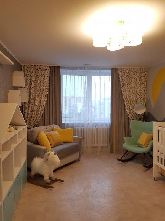 Текстильный дизайн для 2-этажной квартиры в Москве Фото 6
