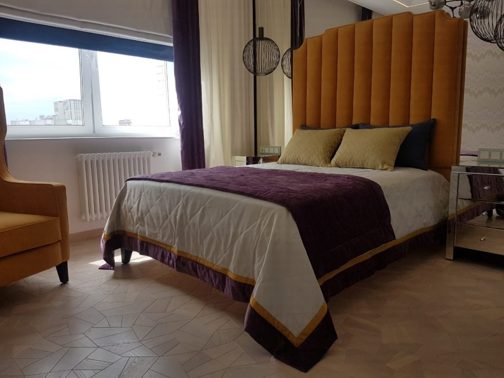 Текстильный дизайн для 2-этажной квартиры в Москве Фото 3
