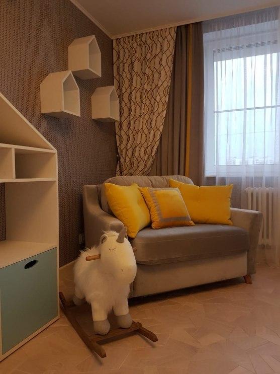 Текстильный дизайн для 2-этажной квартиры в Москве Фото 7