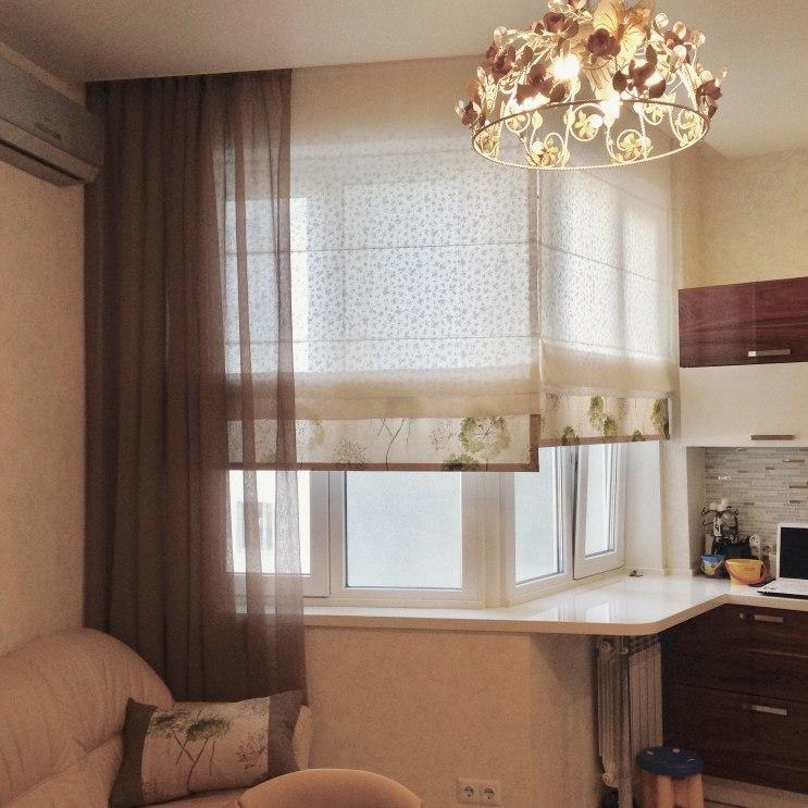Шторы для кухни/столовой Фото 53