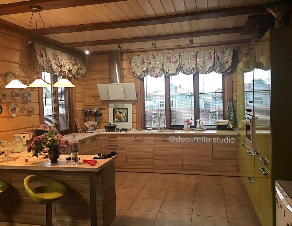 Шторы для кухни/столовой Фото 36