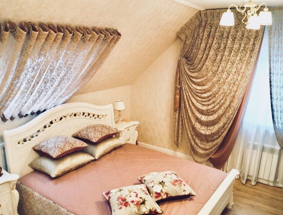 Шторы в спальню Фото 33